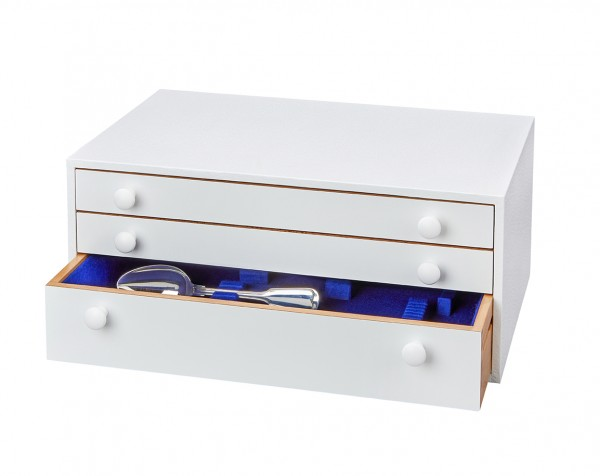 Besteckschrank Standard, außen weiß, innen königsblau